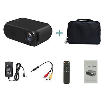 Veidadz YG320 Mini LED-projektori - Screen Beamer Home Media Player Musta - Kopio