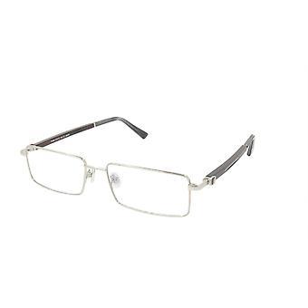 Paul Vosheront Eyeglasses Frame Gold Plated Titanium Wood Acetate Italy PV332 C2