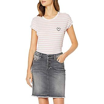 MUSTANG Audrey C Striped T-Shirt, Multicolored (Pear Stripe 11375), Small Woman