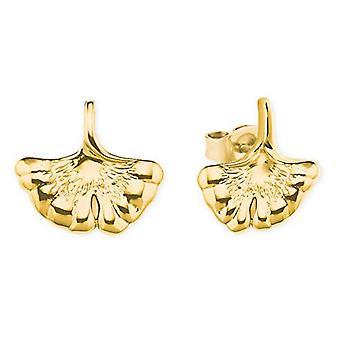 love Sterling 925 silver women's earrings, with ginko leaf