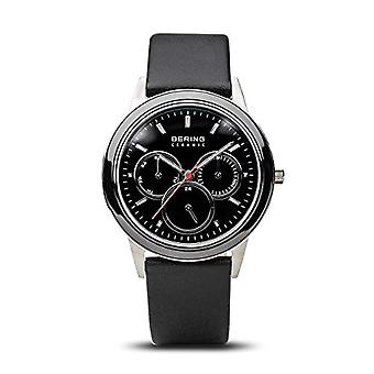 BERING Analoog Horloge Quartz Man met Lederen Band 33840-442