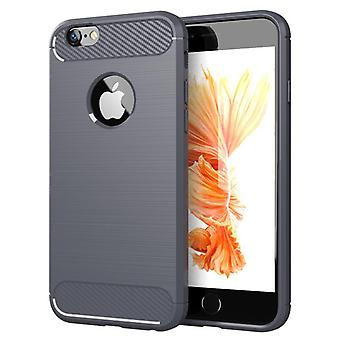 Tpu Kohlefaser-Gehäuse für iphone 6s plus grau mfkj-740