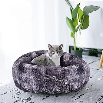 Hundebett, Katzenbett, Haustierbett, Haustier Nest Entfernbar Plüsch Weich rund Schlafen Bett für