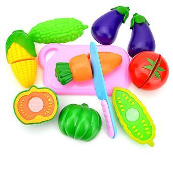 8Pcsキッズキッチンキットは、野菜の教育玩具をカット遊ぶふりをします