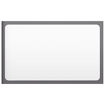 vidaXL Badspiegel Hochglanz-Grau 60x1,5x37 cm Spanplatte