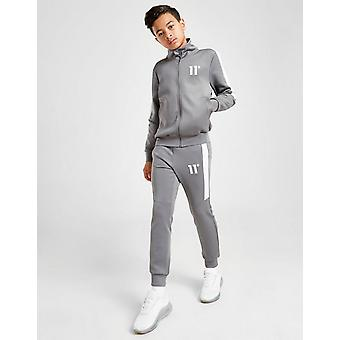 New 11 Degrees Cut & Sew Poly Tracksuit Junior from JD Outlet Grey