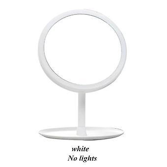 LED ماكياج مرآة خلع الملابس الجدول ضوء الوجه اللمس تعتيم طاولة الجدول مرآة| مرايا ماكياج (أبيض)