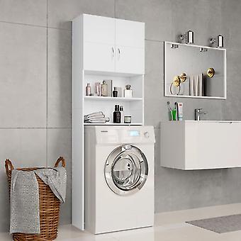 Waschmaschinenschrank 64X25,5X190 Cm Spanplatten weiß