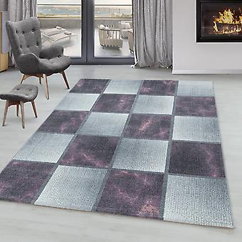 Tappeto del soggiorno ONTARIO Short Pile Soft Square Pattern Marmoro