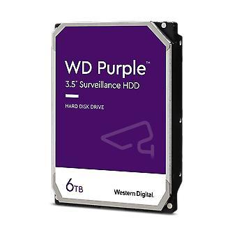 """WD 3.5"""", 6TB, SATA3, disco duro de vigilancia púrpura, 5640RPM, caché de 128 MB, OEM"""