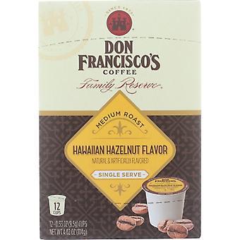 Don Francisco Coffee Hawaiian Hazlnt Ss, Case of 6 X 12 PC