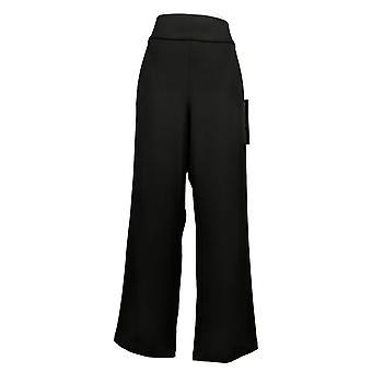 DG2 by Diane Gilman Women's Pants Stretch Crepe Black 710894