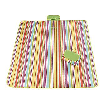 Light green and pink 145x180cm outdoor moisture-proof waterproof oxford cloth picnic blanket mat striped park blanket necessary for picnic homi2818
