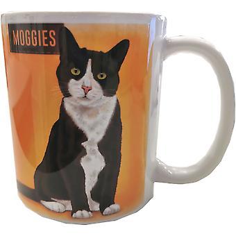 Black & White Cat Retro Ceramic Mug by The Original Metal Sign Co