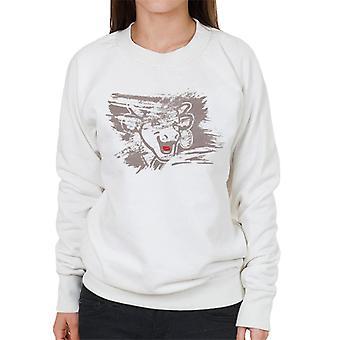 Den grinende ko penselstrøg Kvinders Sweatshirt