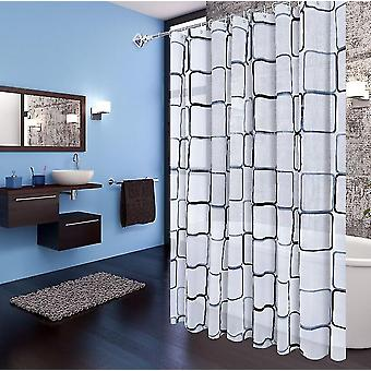 Environmental Protection Material Square Shower Curtain Curtain Partition Waterproof Shower Curtain