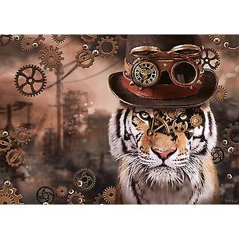 Schmidt Markus Binz: Steampunk Tiger pussel (1000 stycken)