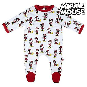 Baby's Long-sleeved Romper Suit Minnie Mouse White