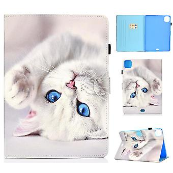 Case For Ipad Pro 11 2020 Cover With Auto Sleep/wake Pattern Magnetic - White Cat