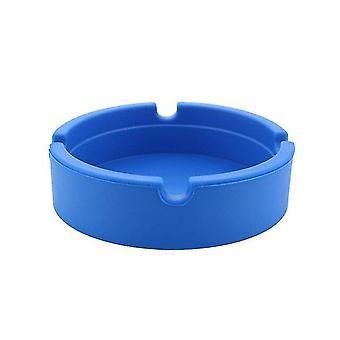 Silicone Soft Round Ash Tray Holder Pluminous Portable Anti-scalding Cigarette Holder Multicolor
