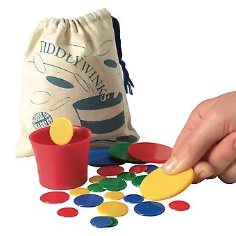 Traditional Tiddlywinks Games Set for the Whole Family - Boxed Gift
