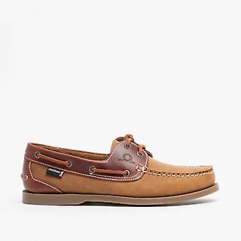 Chatham Bermuda G2 Mens Nubuck Leather Boat Shoes Walnut/seahorse