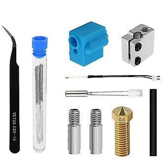 Kit de extrusora accesorios de impresora 3d termistor boquilla manga de silicona calentamiento tubo de garganta tubo para