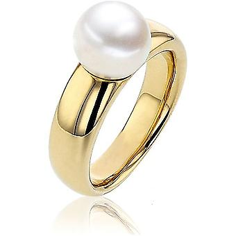 Luna-Pearls - Ring - Pearl Ring - 585 Yellow Gold - Ring Size 56 (17.8mm)