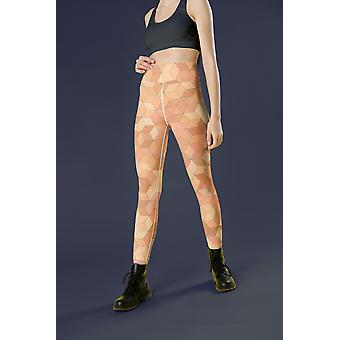 Ramona Orange Leggings Capris And Shorts