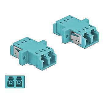 Desbloqueo acoplador de fibra óptica LC Duplex hembra a LC Duplex hembra Mult