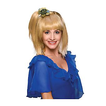 70s Prom Girl Retro Queen 1970s Side Ponytail Blonde Women Costume Wig