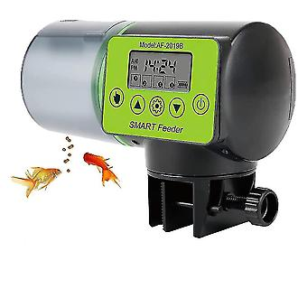 Pet bowls  feeders waterers aquarium / fish food vending machine with lcd display and power time adjustment  suitable for