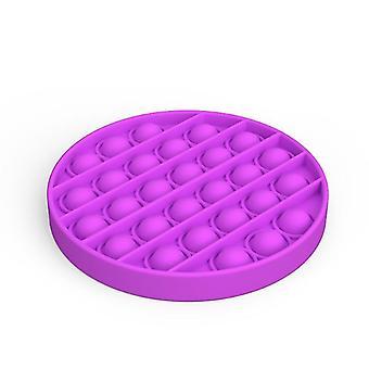 Push pops bolla sensoriale toy per bisogni speciali autismo anti stress (Round A - Viola)