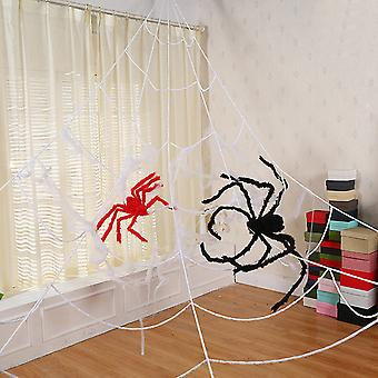 Homemiyn هالوين الديكور تمتد شبكات العنكبوت في الأماكن المغلقة والهواء الطلق العنكبوت مخيف ويبينج للزينة هالوين