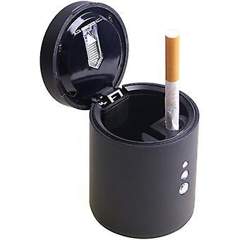 Przenośna popielniczka do papierosów samochodowych z oświetleniem LED i pokrywą