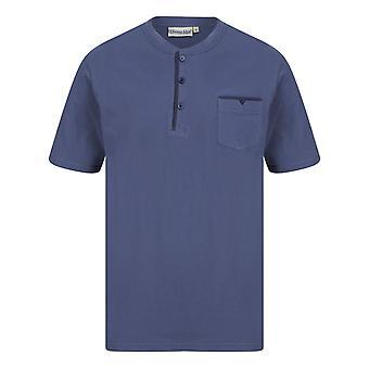 Slenderella Walker Reid WR88841 Men's Navy Cotton Pyjama Set