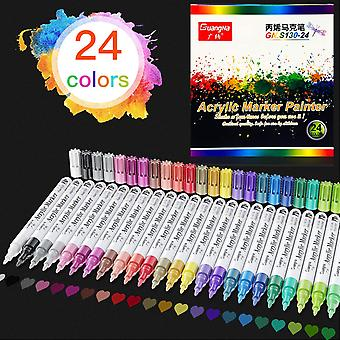 Sofirn Painting Pen 24-color Paint Pen, Waterproof Nib Permanent Color Marking, Suitable For Painting On Pebbles And Ceramics