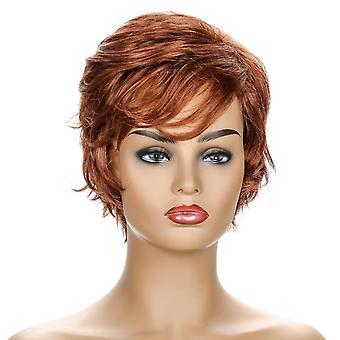 Brand Mall Pruiken, Lace Wigs, Realistische Pony, Kort krullend haar, steil haar