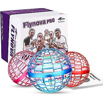 Flynova Pro Flying Orb, Mini Drone Flying Ball Eingebauter Rgb Led Spinner 360 Ufo Spinner, Magic Magic Flying Toys für Kinder Erwachsene Outdoor Indoor (bl