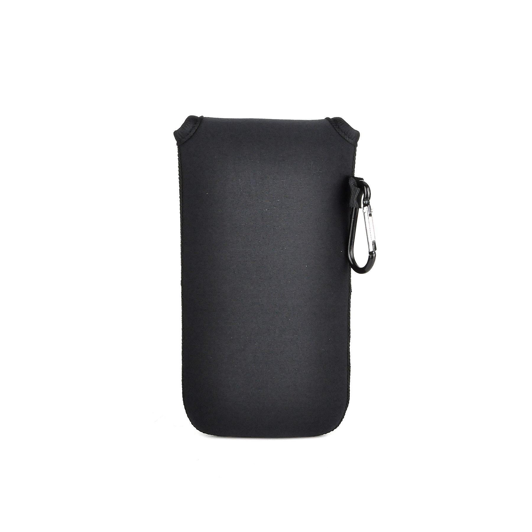 كيس تغطية القضية الحقيبة واقية مقاومة لتأثير النيوبرين إينفينتكاسي مع إغلاق Velcro و Carabiner الألومنيوم موتورولا موتو G4 زائد--الأسود