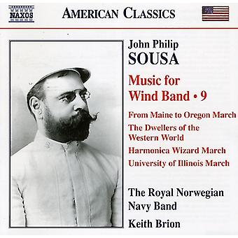 J.P. Sousa - Sousa: Music for Wind Band, Vol. 9 [CD] USA import