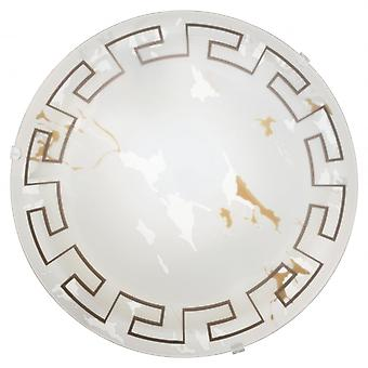 Eglo TWISTER Small Greek Marble Glass Ceiling Light