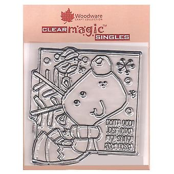 Woodware Clear Stamps Shiny Nose*^^