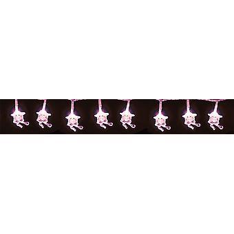 30 LED Weihnachten Xmas hängende Dekoration Schneemann beleuchtet verschiedene Farben