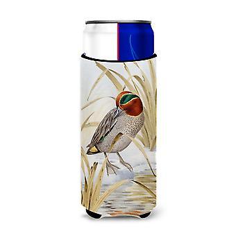 Euraziatische Teal Duck Ultra drank isolatoren voor slanke blikjes