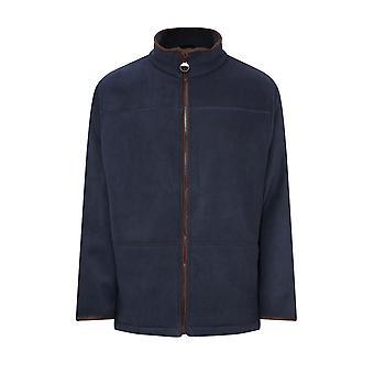 Champion Mens Berwick Fleece Jacket With Faux Suede Trim XXL Navy Blue