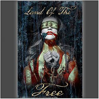 Land of the Free Poster Poster Print by Daveed Benito