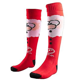 OPTIMALE Weihnachten Weihnachtsmann Rugby Socken [rot]