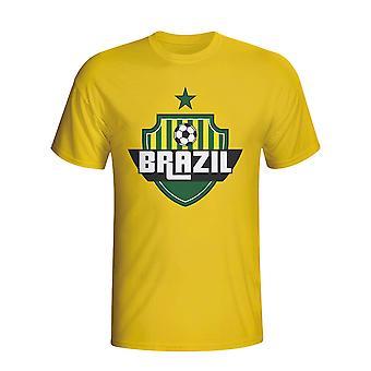 Brazil Country Logo T-shirt (yellow) - Kids