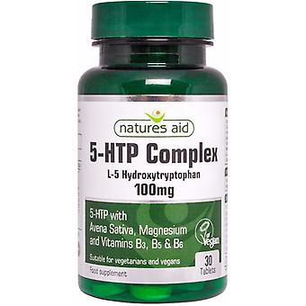 Natures Aid 5-HTP Complex with Avena Sativa, 30 Tablets